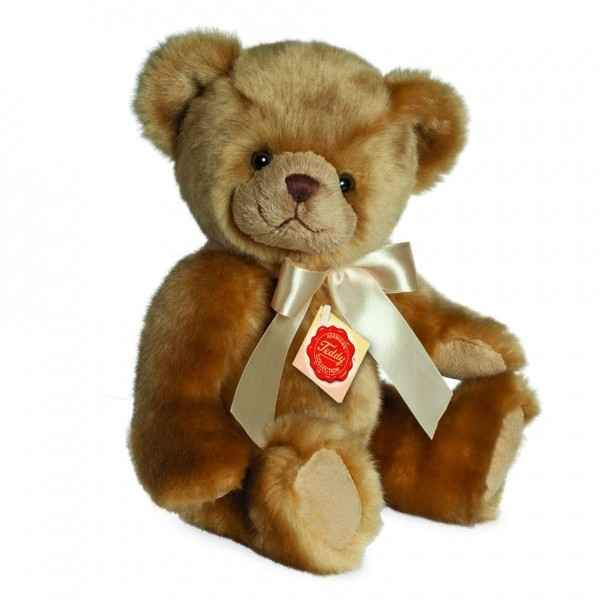 Ours en peluche teddy assis 25 cm hermann -90925 5
