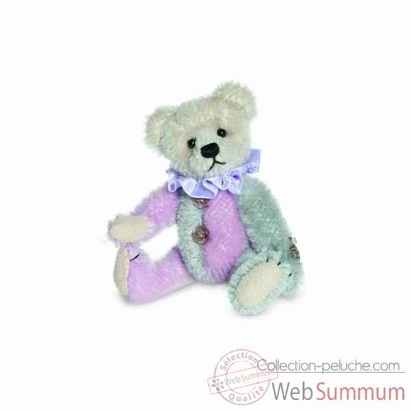 Ours harlequin lilac/gris 10 cm hermann -16268 1