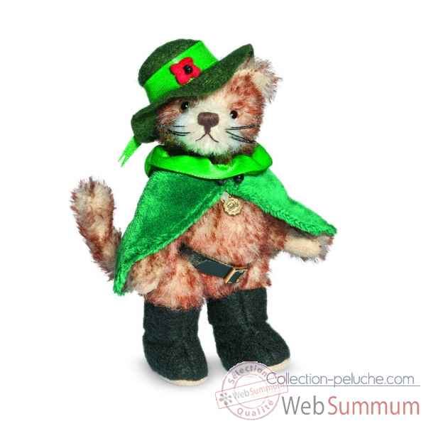 Ours teddy bear chat botte 12 cm Hermann -16293 3
