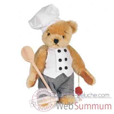 Ours teddy bear chef 27 cm peluche hermann teddy original edition limitee -14628 5