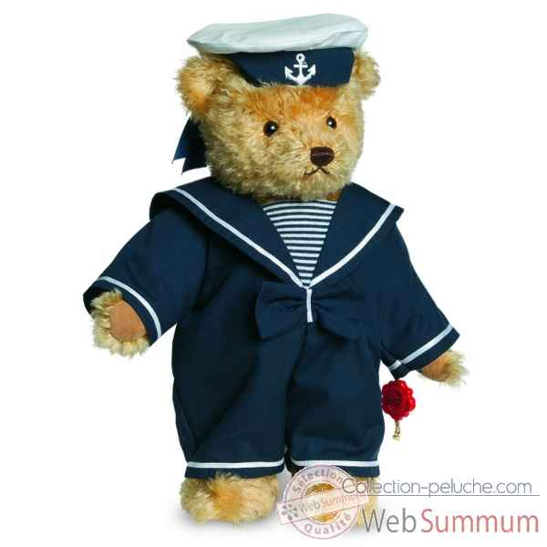 Ours teddy bear malte capitaine 32 cm Hermann -13032 1