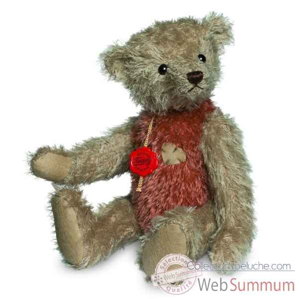 Ours teddy bear vintage beige-rouge 30 cm Hermann -16628 3