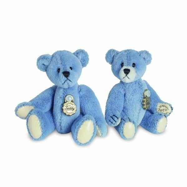Peluche Ours Teddy bleu Hermann Teddy original miniature 5,5cm 15396 2