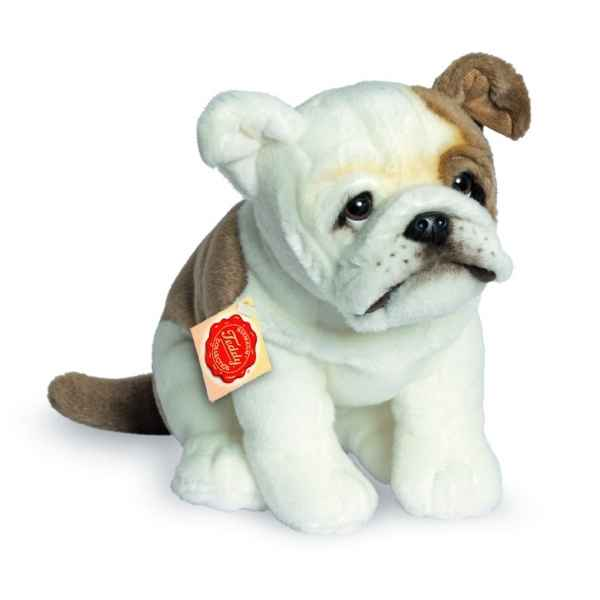 Peluche bouledogue anglais assis 27 cm Hermann -91926 1