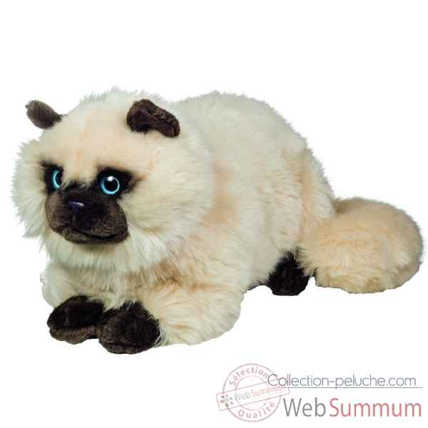Peluche chat siamois couche 36 cm Hermann -91826 4