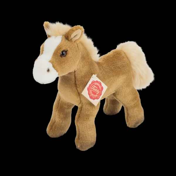 Peluche cheval peluche avec voix marron clair 19 cm hermann teddy hermann teddy -90263 8