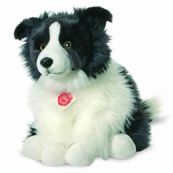 Peluche chien border collie 30 cm hermann 92771 6