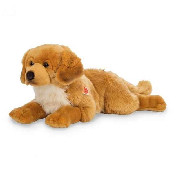 Peluche chien golden retriever ambre 60 cm hermann teddy -91942 1