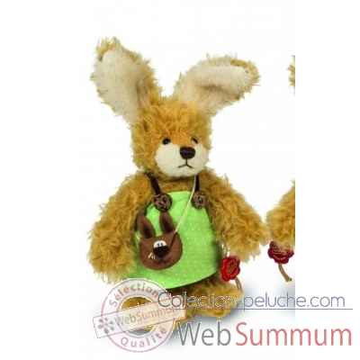 Peluche de collection lapin fille tini 19 cm ed. limitee Hermann -16762 4