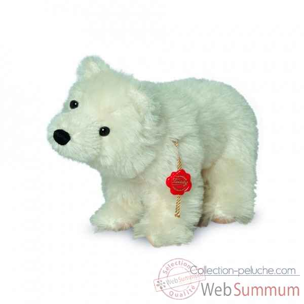 Peluche de collection ours polaire 23 cm hermann -18101 9