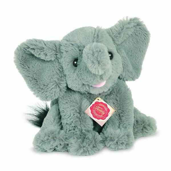Peluche elephant sitting 22 cm hermann 90724 4