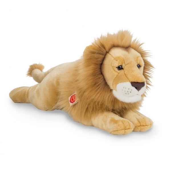 Peluche lion couche 55 cm hermann teddy -90469 4