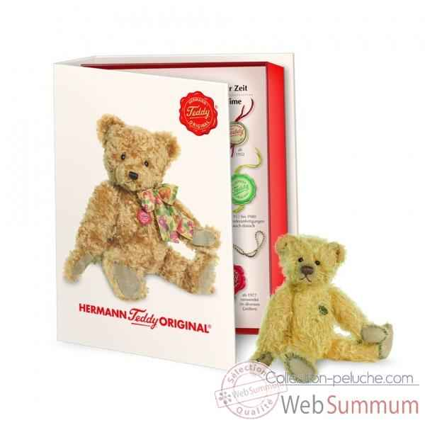 Peluche miniature ours teddy 14 cm collection ed. limitee livre hermann -16242 1