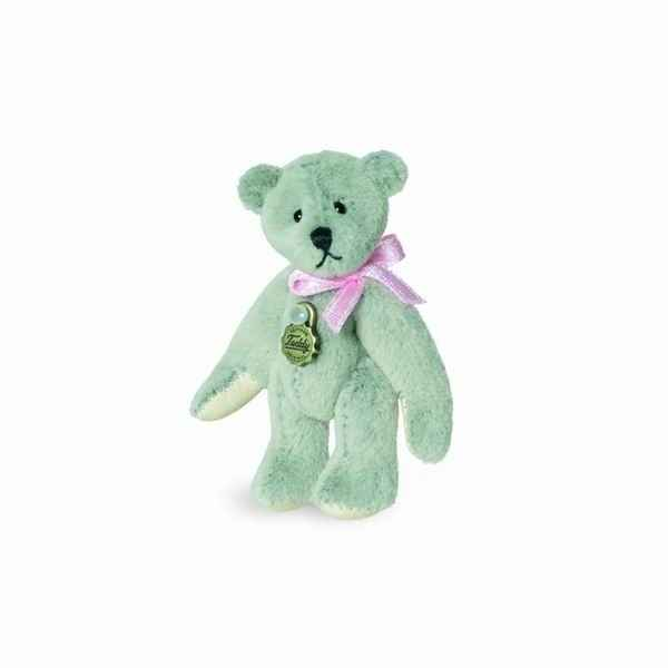 Peluche miniature ours teddy gris clair 5,5 cm collection teddy original hermann -15773 1