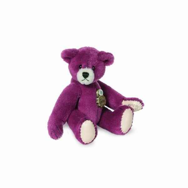 Peluche miniature ours teddy violet 6 cm collection teddy original hermann -15785 4