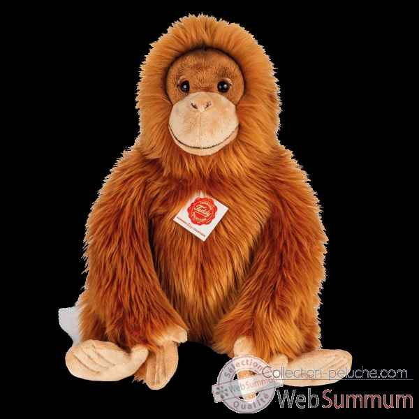 Peluche Orang-outan assis 40 cm hermann teddy collection -92946 8