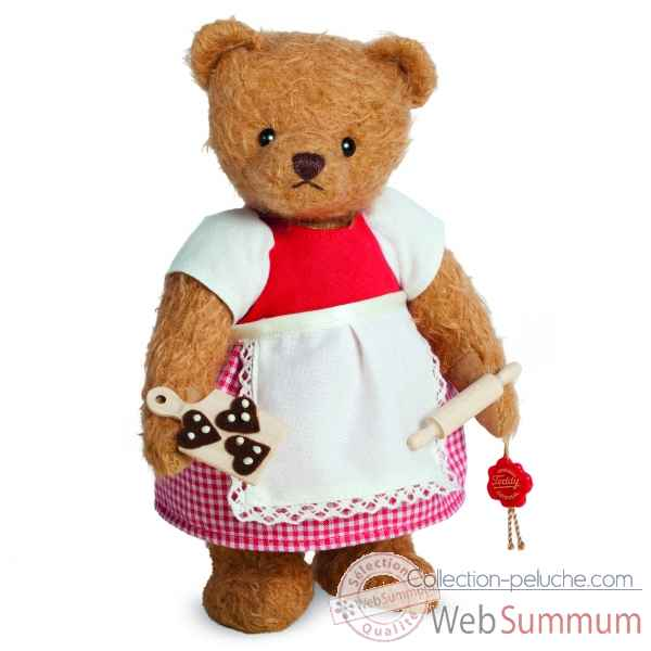 Peluche ours de collection boulanger 23 cm edition limitee Hermann -14822 7