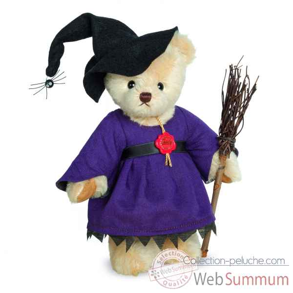 Peluche ours de collection halloween sorciere 22 cm ed. limitee Hermann -11751 3