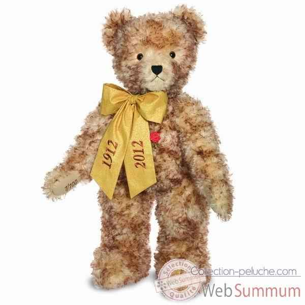 Peluche ours teddy artur 100 cm debout collection anniversaire �d. limit�e 100 ex. hermann -17406 6