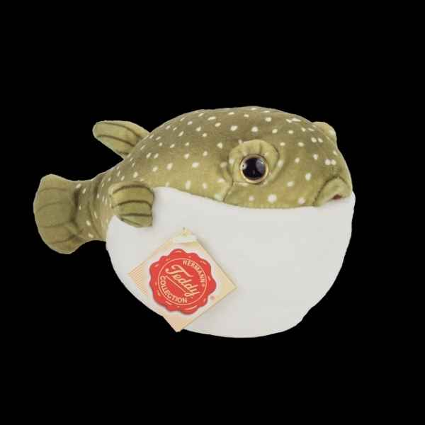 Peluche Poisson puffer 18 cm hermann teddy collection -90151 8