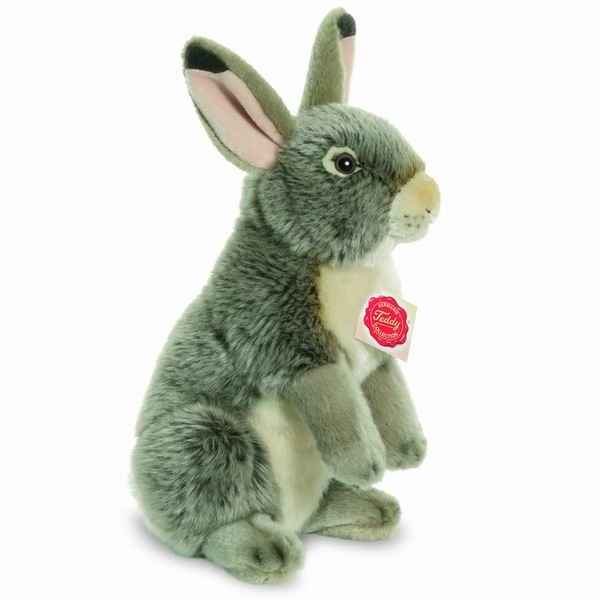 Peluche rabbit assis gris 27 cm hermann 93761 6