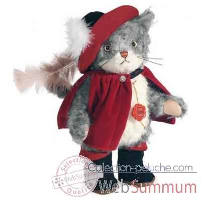 puss in boots grey 30 cm peluche hermann teddy original edition limitee -11833 6