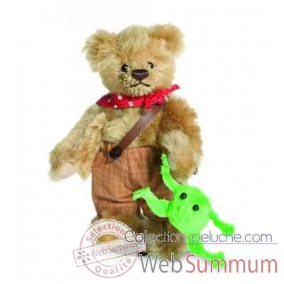 Peluche ours Tom Sawyer mini teddy Hermann -16280 3