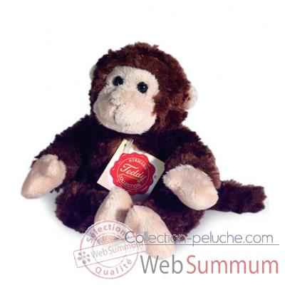 Peluche Hermann Teddy peluche singe souple marron 18 cm -92920 8