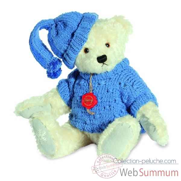 Winter bear 33 cm with cap and pullover hermann -14854 8