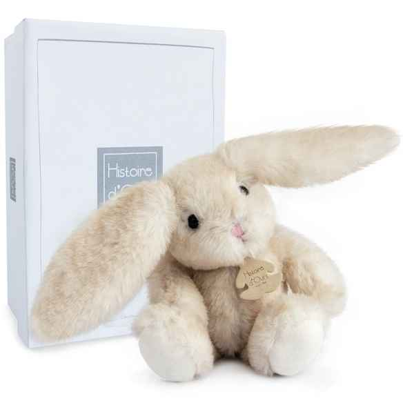 Peluche fluffy - lapin ecru pm histoire d'ours -2733