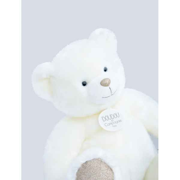 Peluche Ours collection 40 cm - blanc histoire d\'ours -DC3450