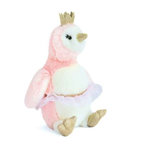 Peluche pingouin Pigloo rose 30 cm histoire d\\\'ours -2860