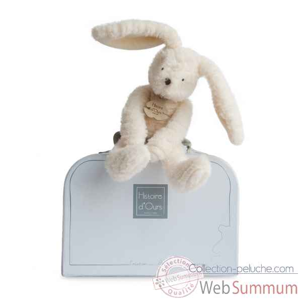 Peluche sweety couture - lapin blanc pm histoire d'ours -2643
