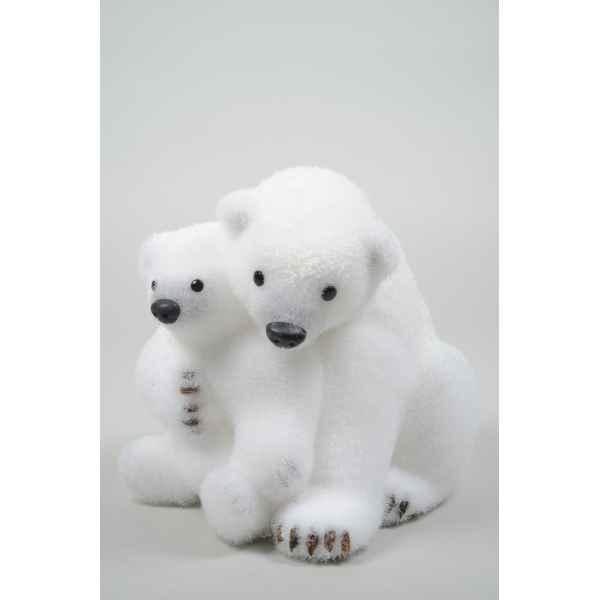 Ours polaire mousse avec enfant avec neige Kaemingk ,455602
