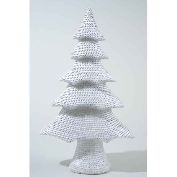 Sapin mousse avec pierres strass 53 cm Everlands -NF -455541