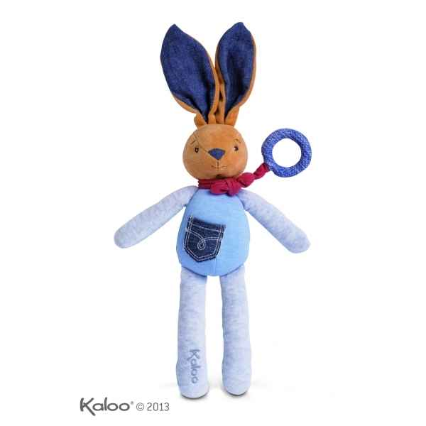 blue denim - doudou bebe lapin musical Kaloo -K960073