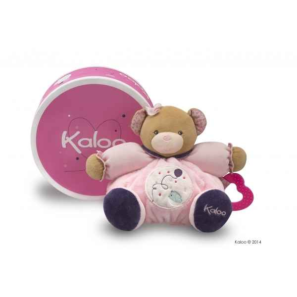 petite rose - medium patapouf ours - ballon Kaloo -K969858