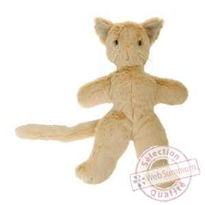 Chat ralphy beige 33 cm Les Petites Marie -FAB1CHARAPB