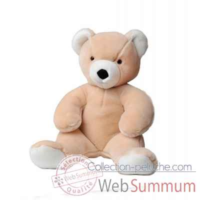 peluche Martin ours peluche 50 cm rose peche les petites maries -FABH3OURMARR