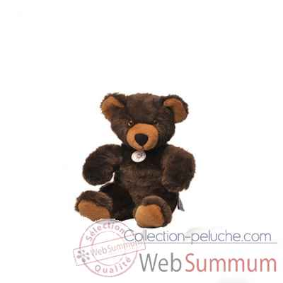 peluche Ours martin peluche - 30 cm - brun fonce les petites maries -FABH1OURMARBRUNF