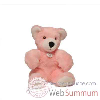 peluche Ours martin peluche - 30 cm - rose les petites maries -FABH1OURMARRO