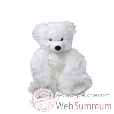peluche Ours martin peluche - 80 cm - blanc les petites maries -FABH4OURMARBL