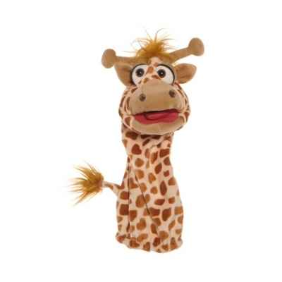 Marionnette chaussette girafe ventriloque Living Puppets -W573