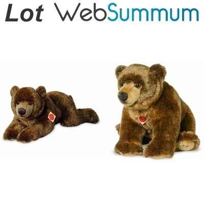 Doudou et compagnie marionnette ours marron avec bébé lot de 2 Ours Marionnett