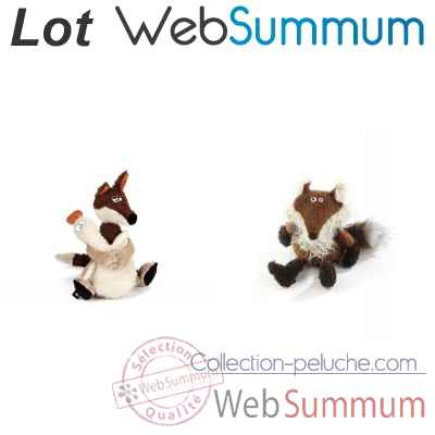 Lot 2 peluches renard -LWS-394