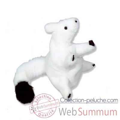 Marionnettes peluche a main - Fabrication France -Hermine