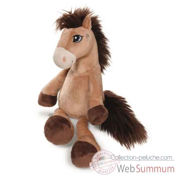 Peluche cheval moon marron clair 50cm Nici -NI38748