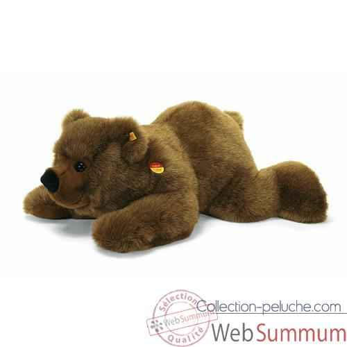 Video Peluche Steiff Ours brun Pummy couche -st069895