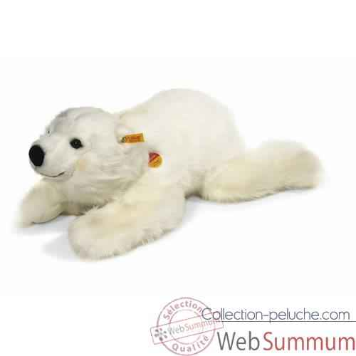 Peluche Steiff Ours polaire Snobby couche-113031