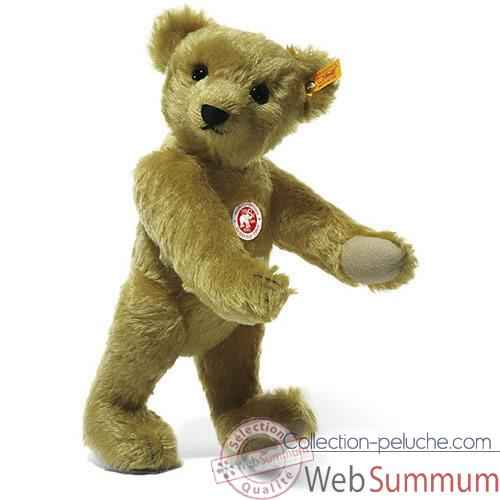 Video Peluche Steiff Ours Teddy 1909 mohair cuivre jaune -st000508